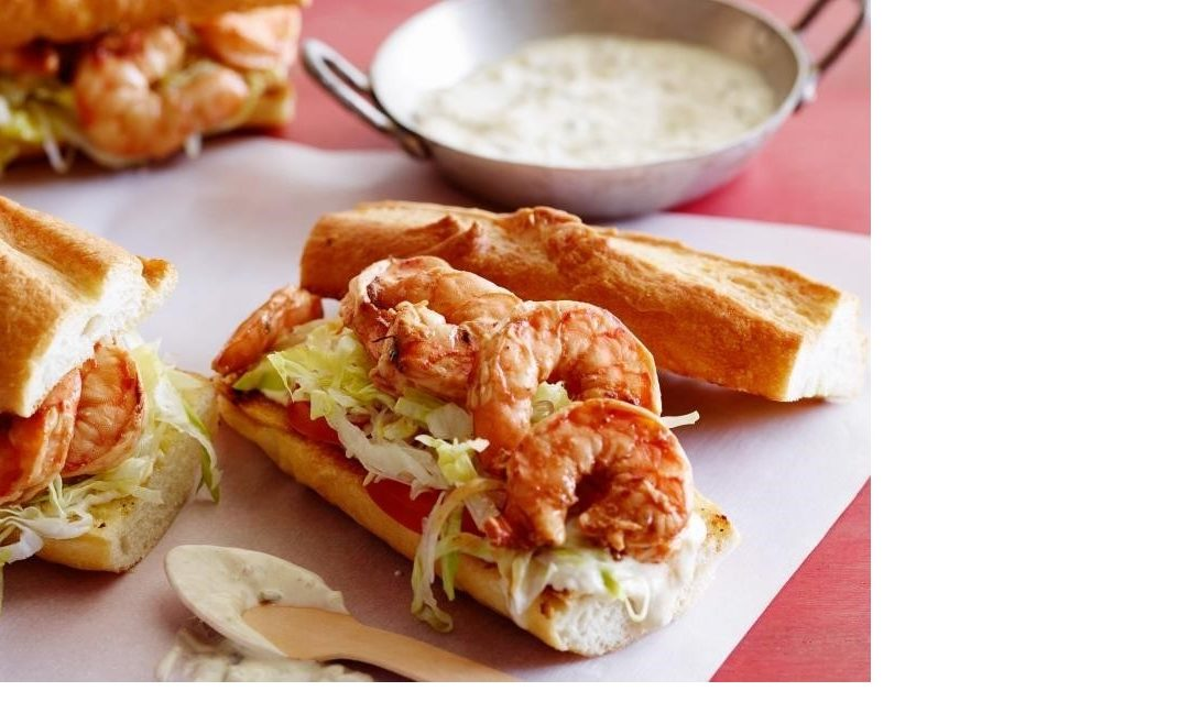 Grilled Shrimp Po' Boy